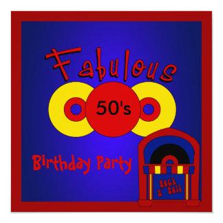 Los años 50 fabulosos de la fiesta de cumpleaños comunicados personalizados