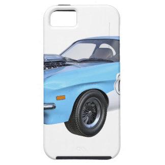 los años 70 azules y coche blanco del músculo funda para iPhone SE/5/5s