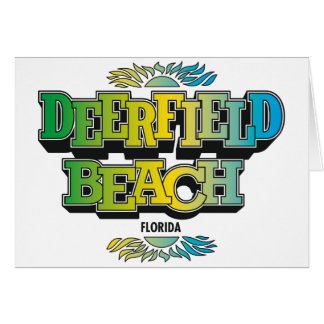 Los años 70 de la playa de Deerfield Tarjeta De Felicitación