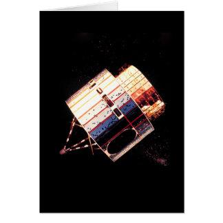 Los años 70 del vintage por satélite tarjeta de felicitación