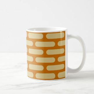 los años 70 oro quemado MOD del naranja y de la Taza De Café