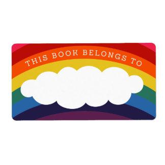 Los años 70 retros del arco iris este libro etiquetas de envío