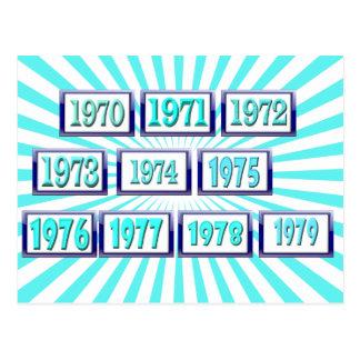 los años 70 postal