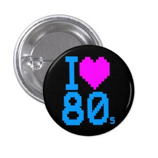 Los años 80 RETROS del CORAZÓN de los años 80 I Chapa Redonda De 2,5 Cm