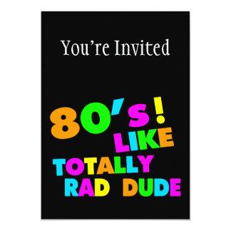 los años 80 tienen gusto totalmente del tipo del invitación 12,7 x 17,8 cm