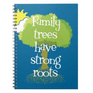 Los árboles de familia tienen raíces fuertes cuaderno