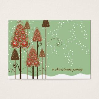 Los árboles de navidad caprichosos mini le tarjeta de negocios
