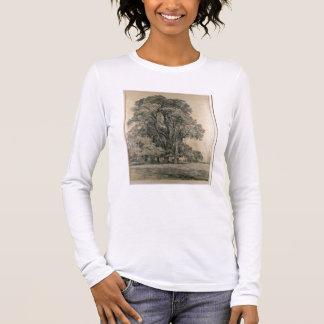 Los árboles de olmo en viejo Pasillo parquean, Camiseta De Manga Larga