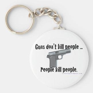 Los armas no matan llavero redondo tipo chapa
