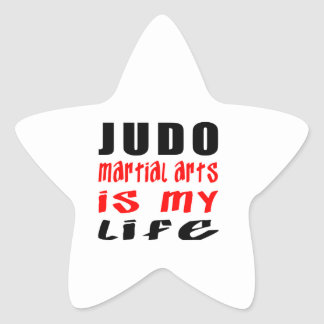 Los artes marciales del judo son mi vida pegatina en forma de estrella