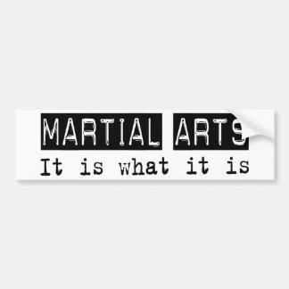 Los artes marciales es pegatina para coche