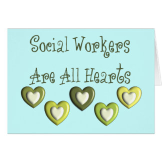Los asistentes sociales son todos los regalos de l tarjeta de felicitación