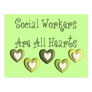 Los asistentes sociales son todos los regalos de l postales