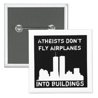 Los ateos no vuelan los aeroplanos en edificios pins