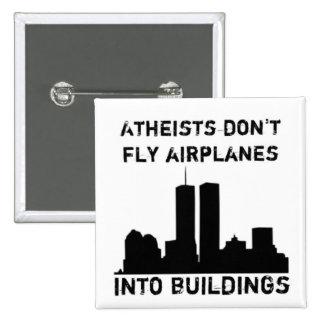 Los ateos no vuelan los aeroplanos en edificios pin