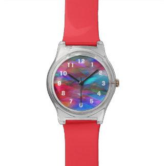 Los aviones multicolores corrigen números reloj de pulsera