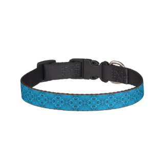 Los azules tejaron los cuellos de perro collar para mascotas