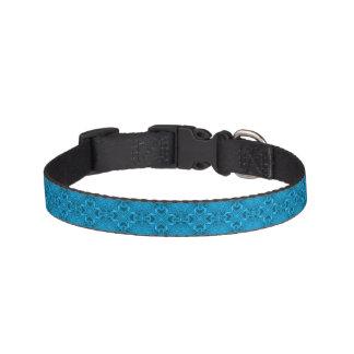 Los azules tejaron los cuellos de perro collares de perro
