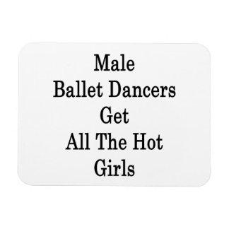 Los bailarines de ballet de sexo masculino consigu imanes flexibles