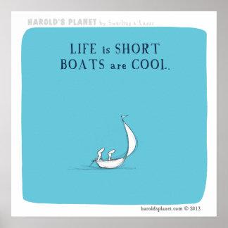 """los """"barcos son frescos """" poster"""