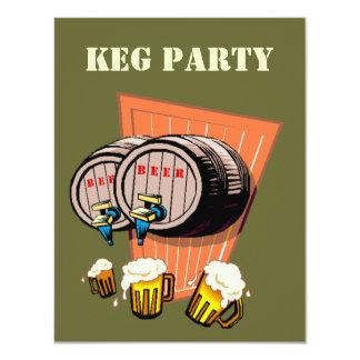 Los barriletes de cerveza del fiesta del barrilete invitación 10,8 x 13,9 cm