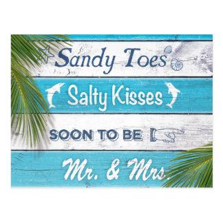 Los besos salados de los dedos del pie de Sandy de Postal