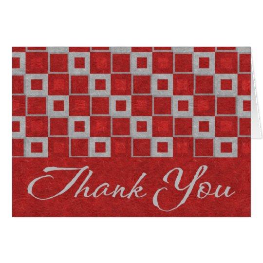 Los bloques rojos le agradecen cardar tarjeta pequeña