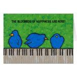 Los bluebirds de la tarjeta de la felicidad