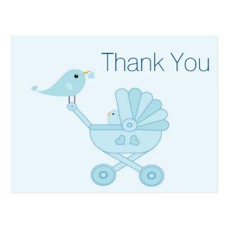Los Bluebirds del bebé y de la mamá le agradecen Postal