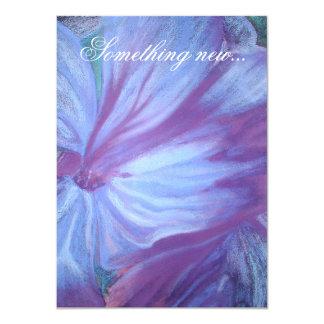 Los bodas románticos elegantes de las flores invitación 11,4 x 15,8 cm
