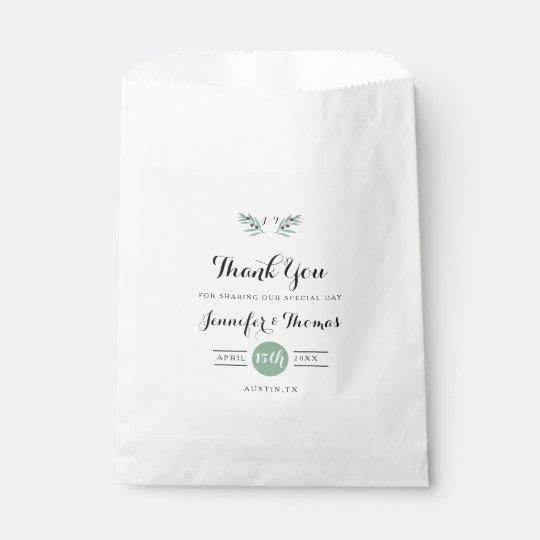 Los bolsos del favor del boda de la primavera de bolsa de papel