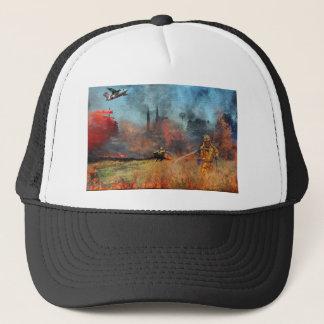 Los bomberos son nuestros héroes verdaderos gorra de camionero