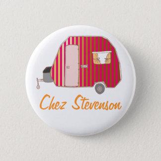 Los botones del arte del dueño retro personalizado chapa redonda de 5 cm