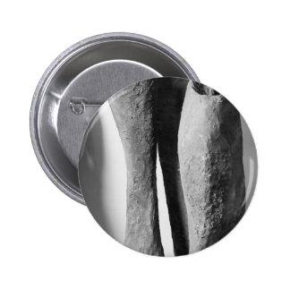 Los botones ennegrecen una foto blanca chapa redonda de 5 cm