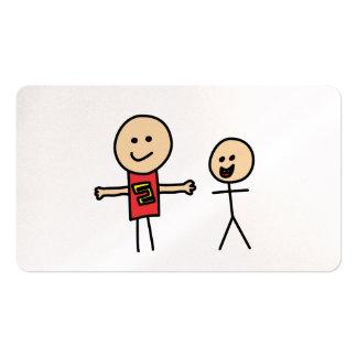 Los brazos de la amistad de los mejores amigos se tarjetas de visita