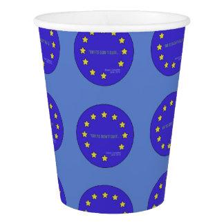 """Los """"británicos no abandonan!"""" Taza de papel Vaso De Papel"""