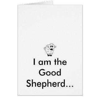 Los buenos cuidados del pastor tarjeta de felicitación