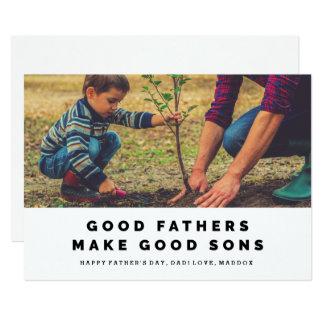 Los buenos padres hacen los buenos hijos la invitación 12,7 x 17,8 cm