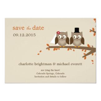 Los búhos del amor ahorran la fecha - naranja