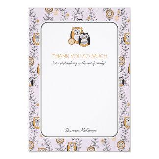 Los búhos modernos le agradecen las tarjetas invitación 8,9 x 12,7 cm