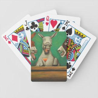 Los burros de risa baraja de cartas bicycle