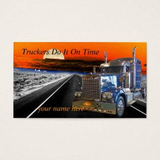 Los camioneros lo hacen el tiempo hacen una tarjeta de negocios