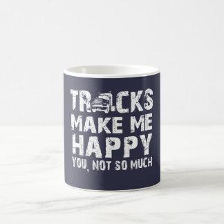 Los camiones me hacen feliz taza de café