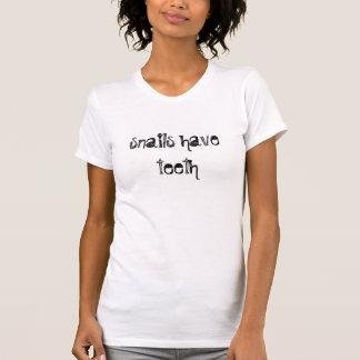 los caracoles tienen dientes camisetas