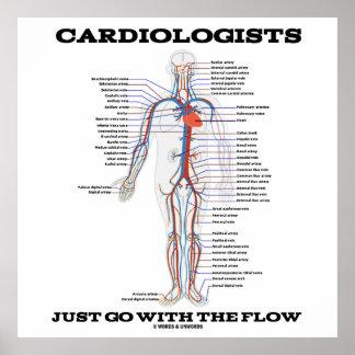 Los cardiólogos apenas van con el flujo póster
