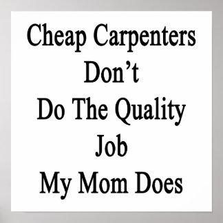 Los carpinteros baratos no hacen el trabajo de la  impresiones