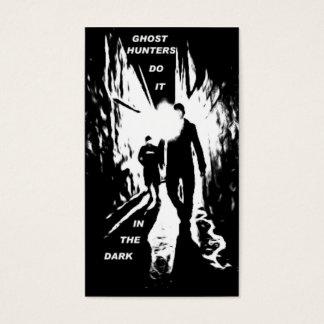 Los cazadores del fantasma lo hacen en las tarjeta de negocios