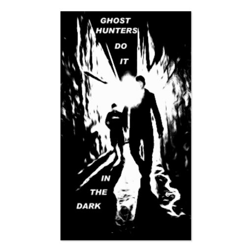 Los cazadores del fantasma lo hacen en las tarjeta tarjetas de visita
