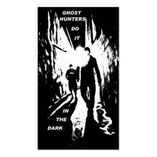 Los cazadores del fantasma lo hacen en las tarjetas de visita