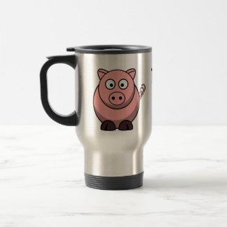 Los cerdos me hacen feliz taza térmica